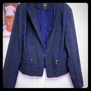 XOXO Plaid Blazer